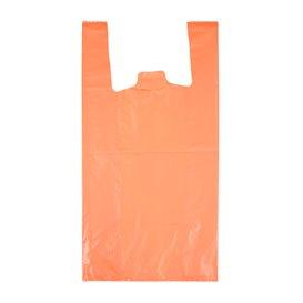 "Bolsa Plástico Camiseta 70% Reciclado ""Colors"" Naranja 42x53cm G200 (1.000 Uds)"