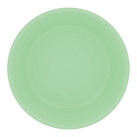 Plato Reutilizable Durable PP Mineral Verde Ø18cm (6 Uds)