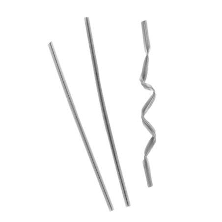 Cierre para Bolsas en Metal Plata 9,5cm (1000 Uds)
