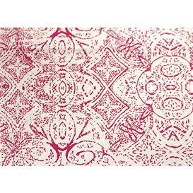 """Mantel de Papel Cortado 1x1m """"Mosaico"""" Burdeos 40g/m² (400 Uds)"""