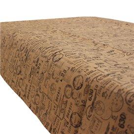 """Mantel de Papel Cortado 1x1m Kraft """"Postal"""" 40g/m² (400 Uds)"""
