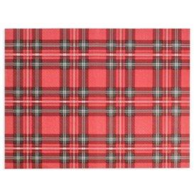 """Mantel Individual de Papel Rojo """"Glasgow"""" 30x40cm 40g/m² (1.000 Uds)"""