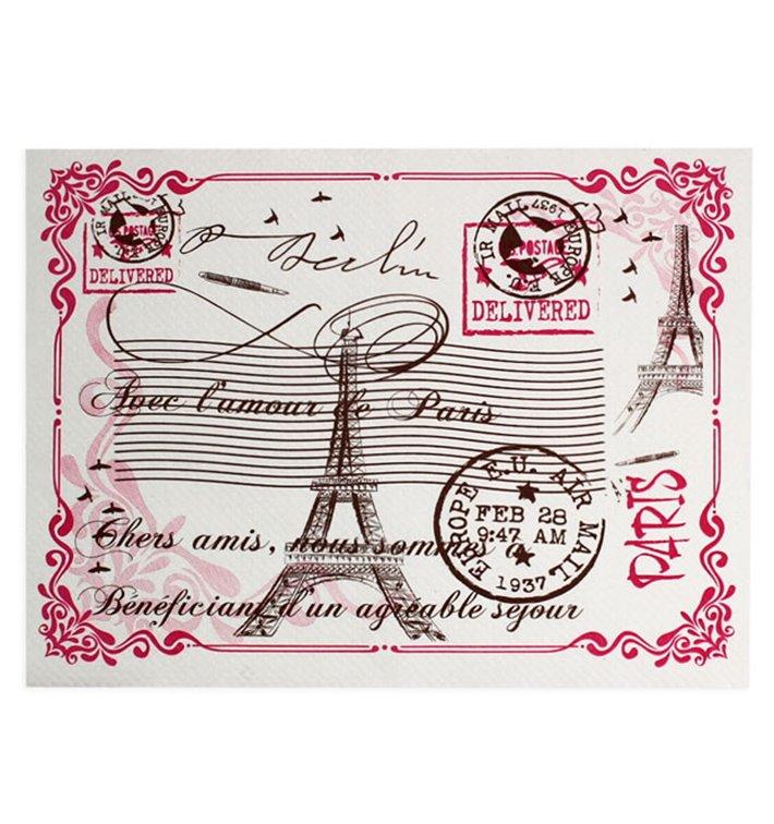 """Mantel Individual de Papel Blanco """"Paris"""" 30x40cm 40g/m² (1.000 Uds)"""