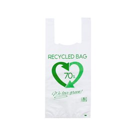 Bolsa Plástico Camiseta 70% Reciclado 35x50cm G200 (1.000 Uds)
