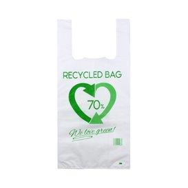 Bolsa Plástico Camiseta 70% Reciclado 42x53cm G200 (800 Uds)