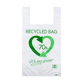 Bolsa Plástico Camiseta 70% Reciclado 50x60cm G200 (100 Uds)