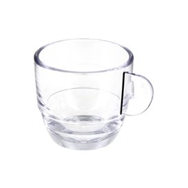 "Taza Reutilizable SAN ""Espresso"" Transparente 80ml (36 Uds)"