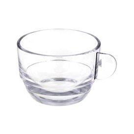 "Taza Reutilizable SAN ""Cappuccino"" Transparente 166ml (6 Uds)"