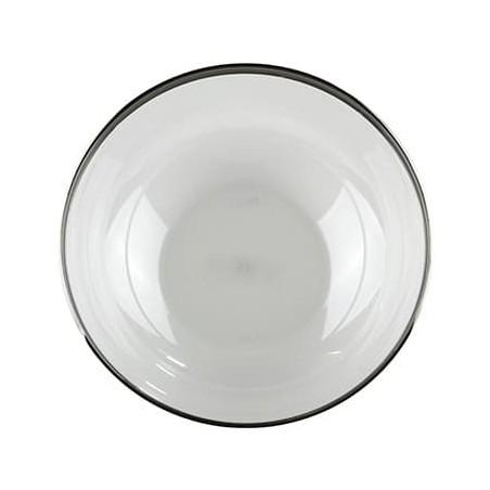 Bol Plástico Extra Rigido Transp. Ribete Plata 3500ml (40 Uds)