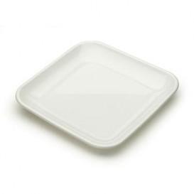 Plato Degustacion Plastico Blanco 6x6x1 cm (200 Uds)