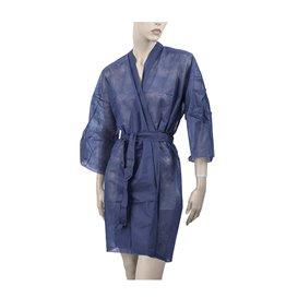 Bata Kimono en TST PP con Cintas y Bolsillo Azul XL (10 Uds)