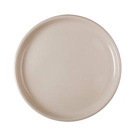 Plato Reutilizable PP para Pizza Beige Round Ø35cm (144 Uds)