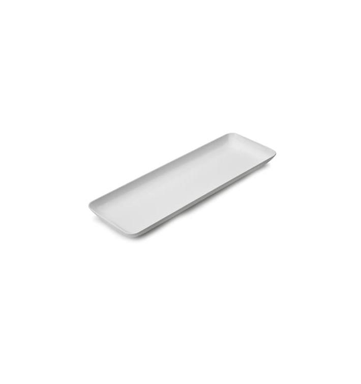 Bandeja Plastico Degustacion Blanco 6x19 cm (20 Uds)