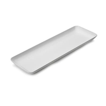 Plato Plastico Rectangular Degustacion Blanco 6x19 cm (20 Uds)