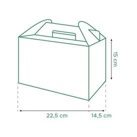 Caja de Menu Kraft 225x145x150mm (150 Uds)