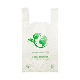 Bolsa Plastico Camiseta 100% Biodegradable 35x45cm (2400 Uds)