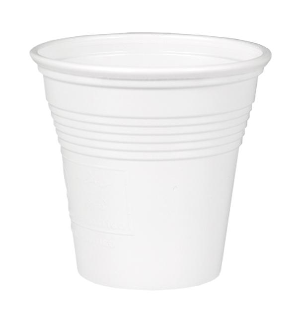 Vaso de Plastico PS Blanco 80 ml (4800 Uds)