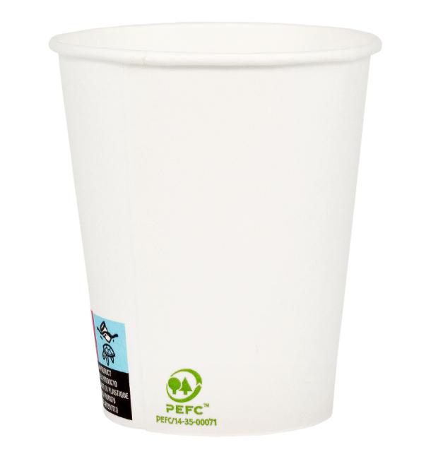 Vaso Cartón 9 Oz/280ml Blanco Ø8,0cm (50 Uds)