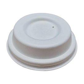 Tapa Cerrada Fibra Moldeada Blanca Ø6,2cm (50 Uds)