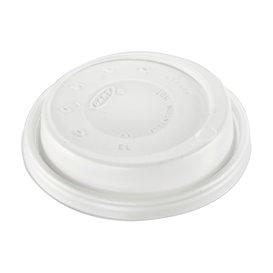 """Tapa Travel PS para Vaso """"Cappuccino"""" Blanca Ø8,6cm (100 Uds)"""