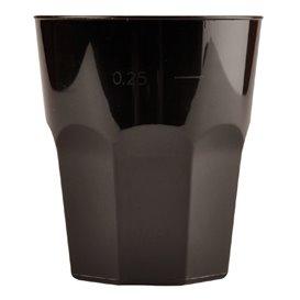 Vaso Plastico para Cocktail Negro PP Ø84mm 270ml (420 Uds)