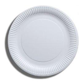 Plato de Papel Blanco Biodegradable Ø23 cm (100 Uds)