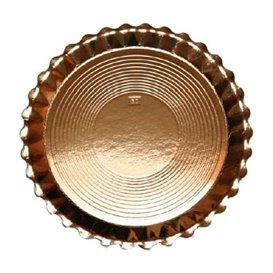 Plato de Carton Redondo Dorado Venus 280 mm (50 Uds)