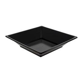 Plato de Plastico Hondo Cuadrado Negro 170mm (6 Uds)