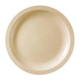 Plato Reutilizable PP Llano Crema Round PPØ18,5cm (50 Uds)