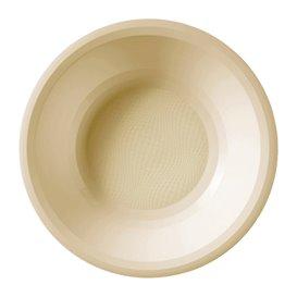 Plato Hondo Reutilizable PP Crema Round Ø19,5cm (600 Uds)