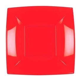 Plato Hondo Reutilizable PP Rojo Nice 18cm (25 Uds)