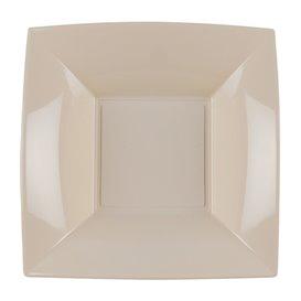 Plato Hondo Reutilizable PP Beige Nice 18cm (25 Uds)