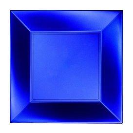 Plato Llano Reutilizable PP Azul Nice Pearl 23cm(25 Uds)