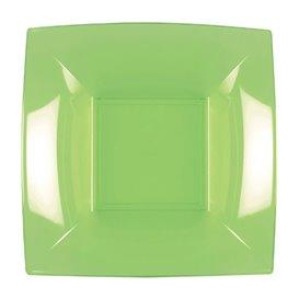 Plato Hondo Reutilizable PP Verde Lima Nice 18cm (25 Uds)
