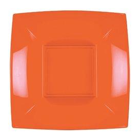 Plato Hondo Reutilizable PP Naranja Nice 18cm (25 Uds)