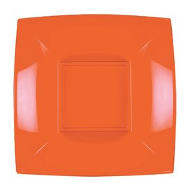 Plato Hondo Reutilizable PP Naranja Nice 18cm (300 Uds)