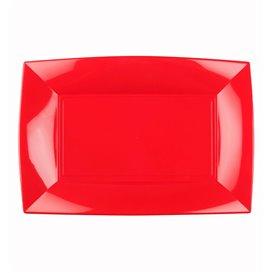 Bandeja Reutilizable PP Rojo Nice 28x19cm (240 Uds)