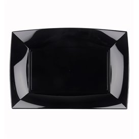 Bandeja Reutilizable PP Negro Nice 28x19cm (12 Uds)