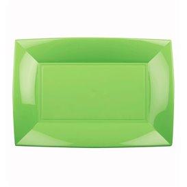 Bandeja Reutilizable PP Verde Lima Nice 28x19cm (12 Uds)