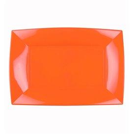 Bandeja Reutilizable PP Naranja Nice 28x19cm (12 Uds)