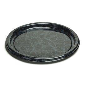 Bandeja Reutilizable PET Redonda Marmol 34cm (50 Uds)