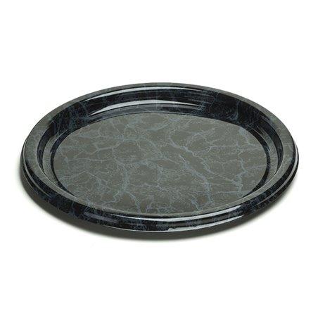 Bandeja Reutilizable PET Redonda Marmol 40cm (5 Uds)