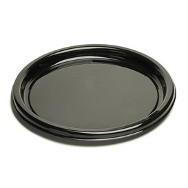 Bandeja Reutilizable PET Redonda Negra 46cm (10 Uds)
