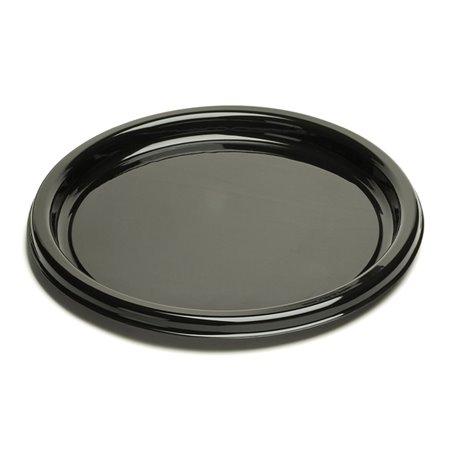 Bandeja Reutilizable PET Redonda Negra 40cm (10 Uds)