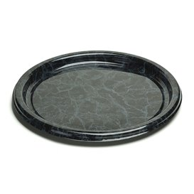 Bandeja Reutilizable PET Redonda Marmol 46cm (5 Uds)