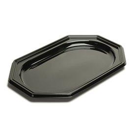 Bandeja Reutilizable PET Octogonal Negra 36x24cm (10 Uds)