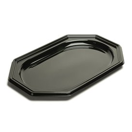 Bandeja Reutilizable PET Octogonal Negra 36x24cm (50 Uds)