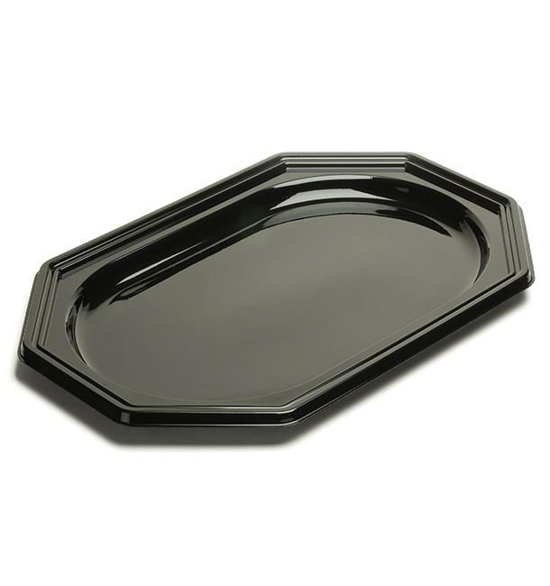 Bandeja Reutilizable PET Octogonal Negra 55X38cm (50 Uds)