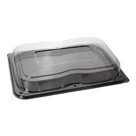 Bandeja Reutilizable PET Tapa Negro 55x37cm (25 Uds)