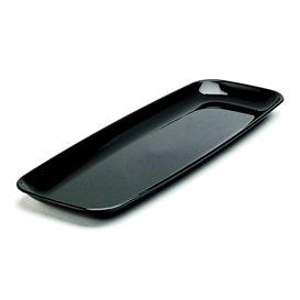 Bandeja Reutilizable PS Rectangular Dura Negro 22x56cm (5 Uds)